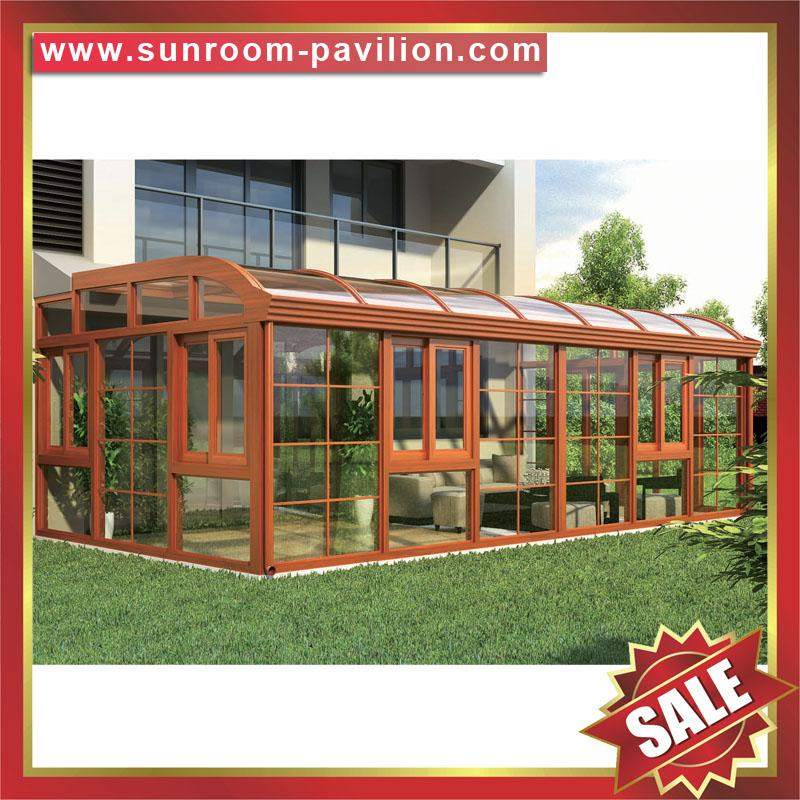 Europe hot sale outdoor garden aluminum sunroom glass sun house room 4