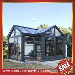 USA hot sale garden aluminum sun room glass house room greenhouse cottage inn