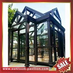 高级定制休闲作息采光透光铝制铝合金玻璃温室屋阳光房
