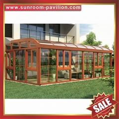 高级定制优质钢化玻璃金属铝合金铝制阳光房温室屋露台房子