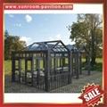 优质耐用高级定制钢化玻璃金属铝合金阳光房温室屋 3