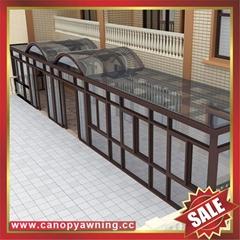 中国广东佛山优质花园公园别墅透明采光铝合金铝制玻璃阳光房
