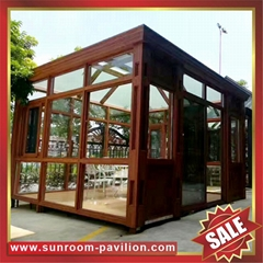prefab modern fashion aluminium alloy tempered glass sunroom