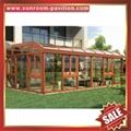 prefab modern luxury slope roof aluminium aluminum alloy glass sunroom sunhouse