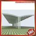 outdoor public alu aluminum pc bicycle motorcycle park shelter canopy awning 2
