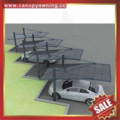 豪华高级超耐用现代酒店别墅PC耐力板铝合金铝制吊拉车棚车篷车蓬