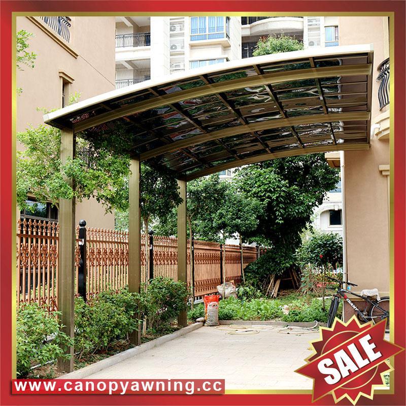 別墅公寓酒店鋁制鋁合金屬防晒擋雨遮陽耐力板汽車棚蓬篷 4