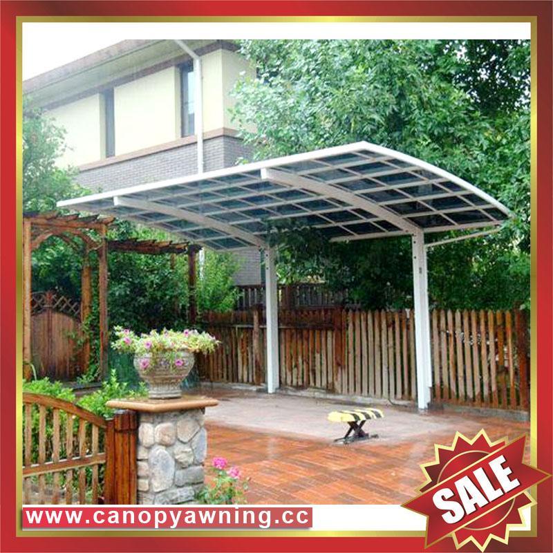 別墅公寓酒店鋁制鋁合金屬防晒擋雨遮陽耐力板汽車棚蓬篷 5