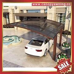 供應美觀耐用別墅花園公園鋁合金鋁制耐力板茶色車棚蓬篷