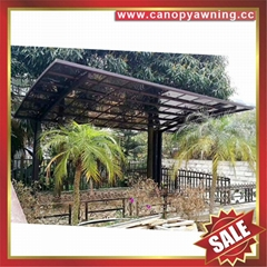 garden Aluminum Carport polycarbonate outdoor car shelter