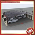 High quality durable Aluminum Carport polycarbonate outdoor Double car shelter 4