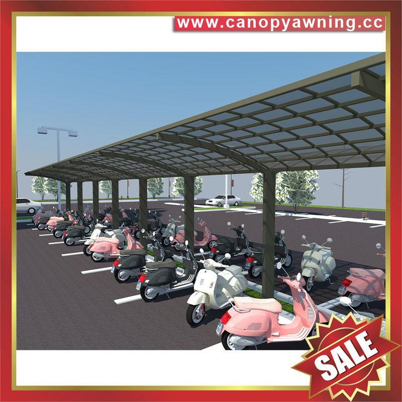 public parking aluminum metal PC bicycle bike shelter carport canopy awning 5