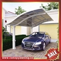 modern rain sunshade aluminum pc carport
