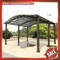 公園別墅小區廣場遮陽擋雨鋁合金鋁制金屬PC板雙位車棚蓬篷 3
