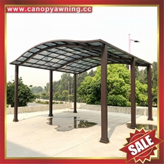 modern new style rain sunshade aluminum pc carport  vehicle automobile shelter