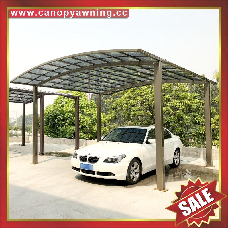 prefabricated new style aluminum alloy polycarbonate carport car shed 1