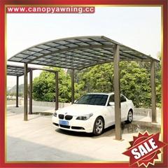 花園小區別墅家用鋁合金鋁制耐力板汽車遮陽棚雨陽車篷擋雨車蓬