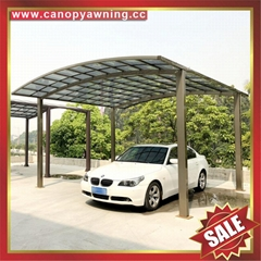 prefabricated new style aluminum alloy polycarbonate carport car shed