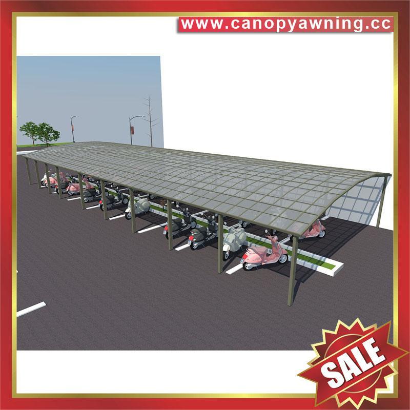 高级定制优质耐用现代公共自行铝合金车棚单车棚遮阳篷挡雨蓬 6