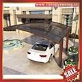坚固耐用防紫外线别墅小区过道铝合金铝制双位合抱车棚 2