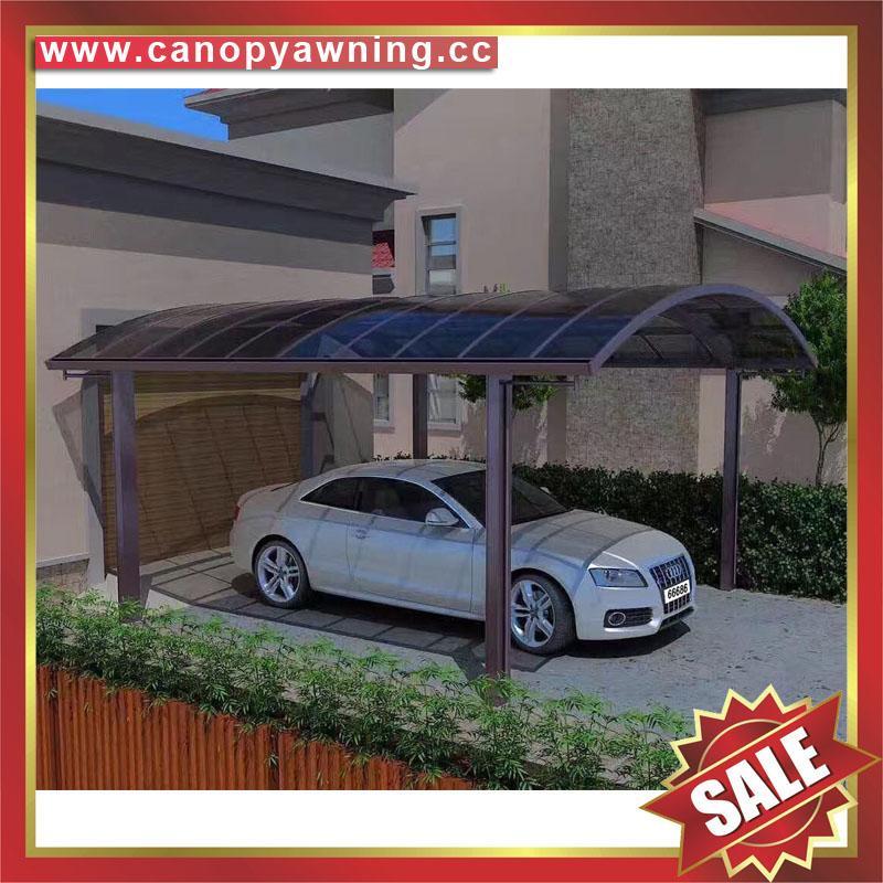坚固耐用防紫外线别墅小区过道铝合金铝制双位合抱车棚 5