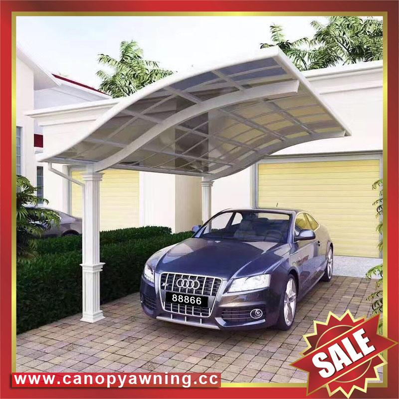 public rain sunshade aluminium alloy pc carport for house and villa 2