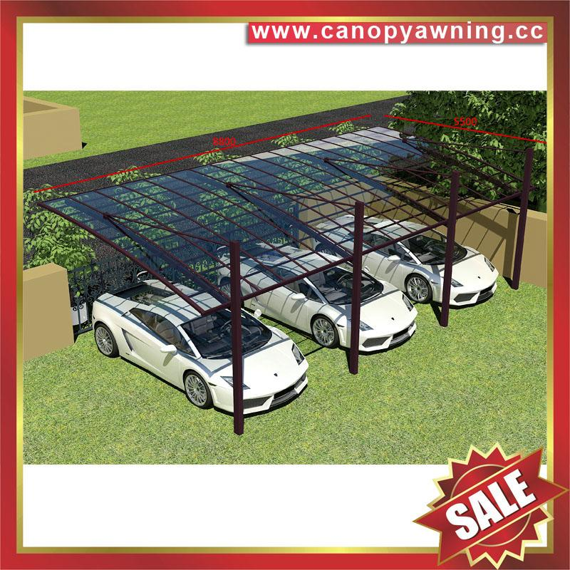 outdoor villa aluminum polycarbonate pc carport car shelter canopy awning 6