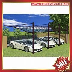 优质耐用豪华别墅花园防晒挡雨遮阳吊拉铝合金铝制车棚蓬篷