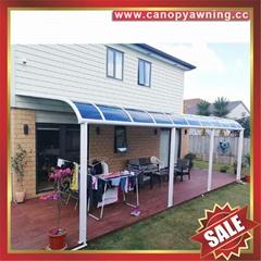 坚固耐用铝合金铝制PC耐力板露台门窗雨棚雨阳篷遮阳蓬