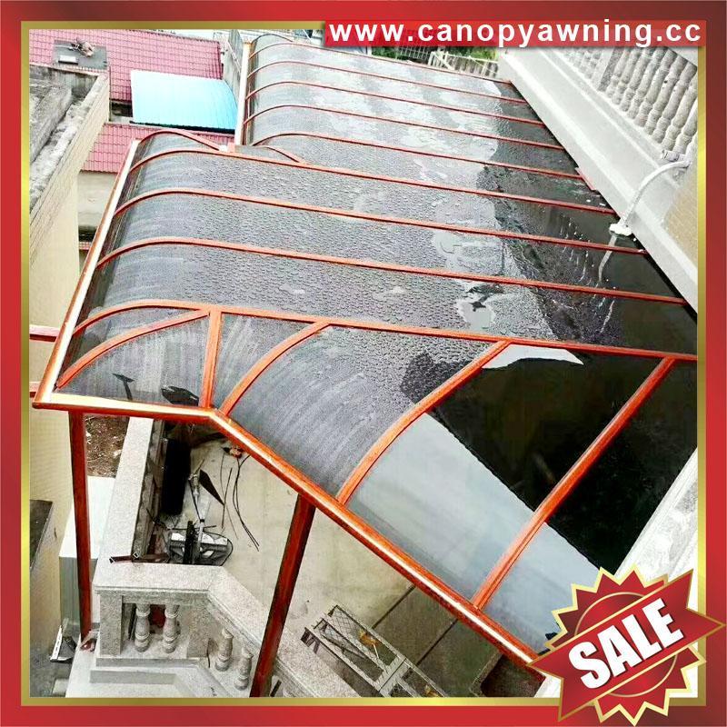 優質鋁合金鋁制PC耐力板陽光露台門窗雨棚雨陽篷遮陽蓬廠家 4