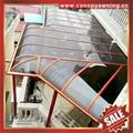 优质铝合金铝制PC耐力板阳光露台门窗雨棚雨阳篷遮阳蓬厂家 4