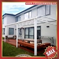 优质铝合金铝制PC耐力板阳光露台门窗雨棚雨阳篷遮阳蓬厂家 5