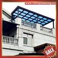 modern sky roof gazebo balcony pc aluminum canopy awning rain sun house cover 3