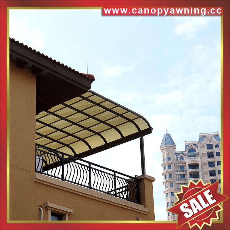 modern sky roof gazebo balcony pc aluminum canopy awning rain sun house cover 4