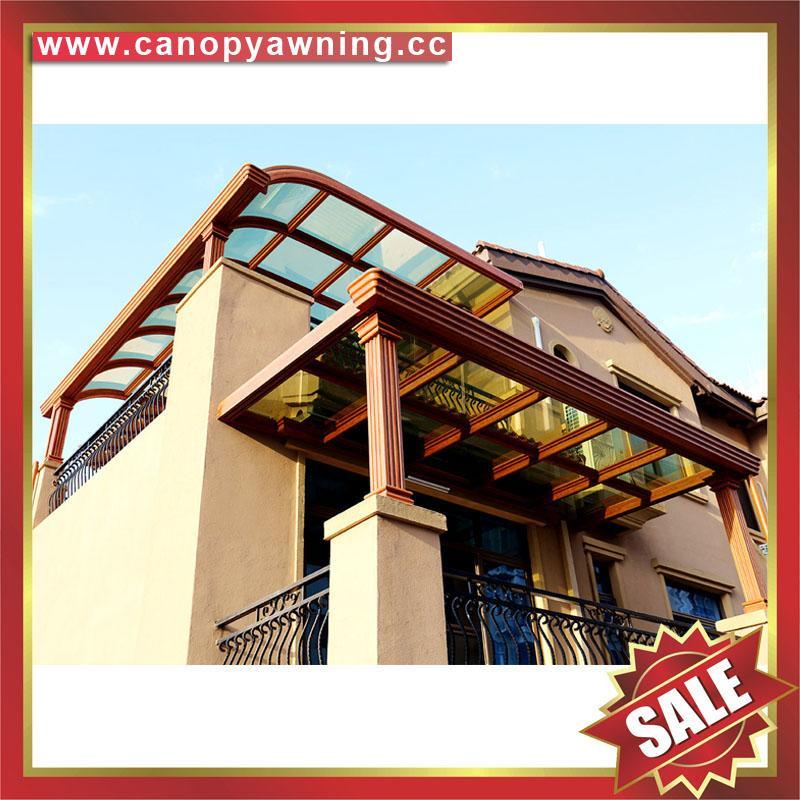 modern sky roof gazebo balcony pc aluminum canopy awning rain sun house cover 6