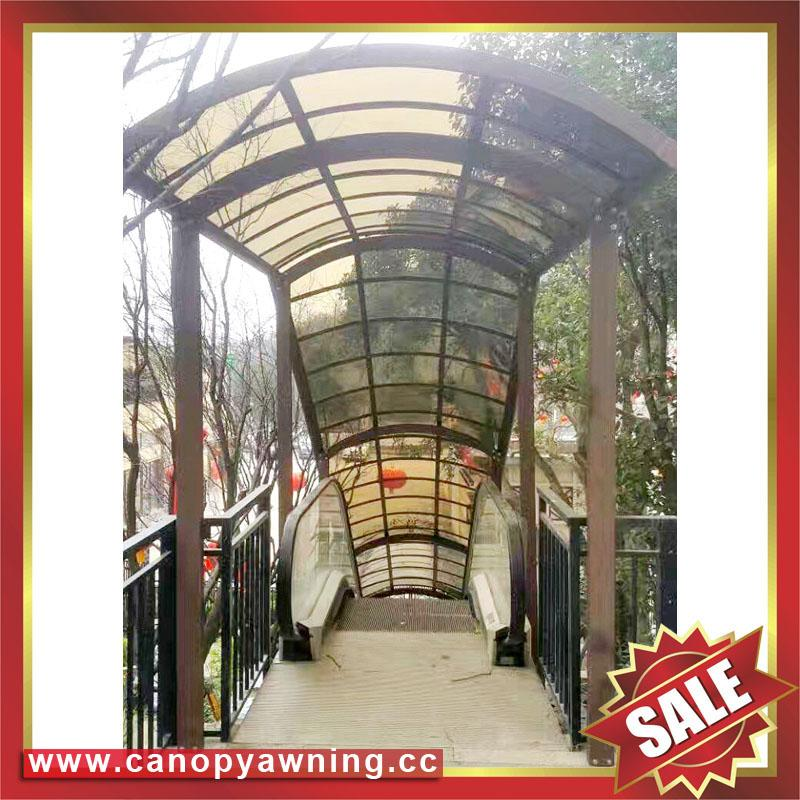 outdoor corridor passage walkway alu aluminum polycarbonate canopy shelter awning kits