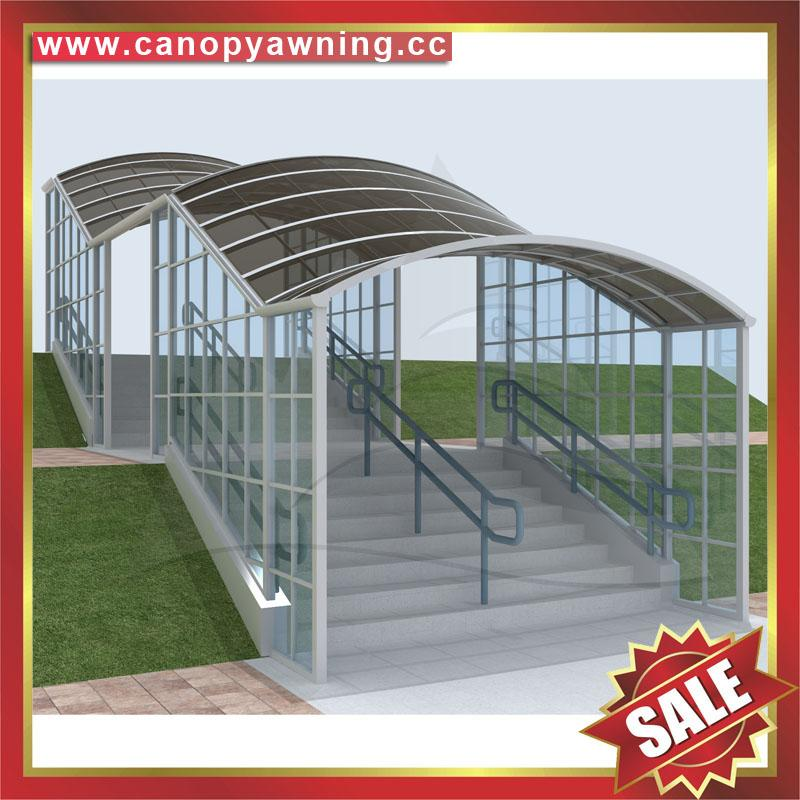 outdoor corridor passage walkway alu aluminum polycarbonate canopy shelter awning cover for sale
