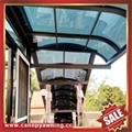 balcony gazebo patio sunshade alu aluminum pc canopy awning rain shelter shield 2