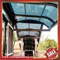 balcony gazebo patio sunshade aluminum pc canopy awning rain sun shelter shield 2
