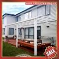 balcony gazebo patio sunshade aluminum pc canopy awning rain sun shelter shield 3