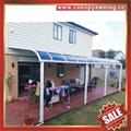 balcony gazebo patio sunshade aluminum pc canopy awning rain sun shelter shield 4