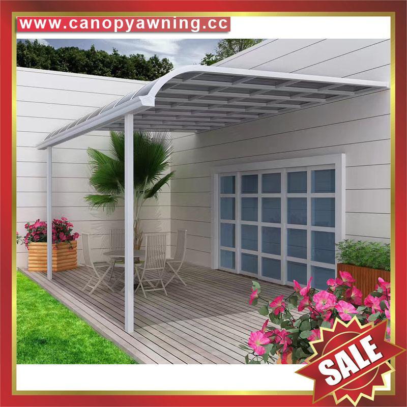 別墅露台陽台門廊窗戶仿木紋鋁合金鋁制金屬遮陽防晒雨棚蓬篷 2