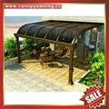 anti-UV sunvisor sunshade aluminum pc canopy awning rain sun shelter shield