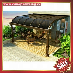 luxury rome roma aluminium pc canopy awning rain sun shelter for house villa