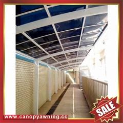 过道走廊门廊窗户小区铝合金铝制耐力板遮阳挡雨棚蓬篷