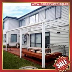 別墅天台露台陽台花園歐式鋁合金鋁制金屬PC雨篷棚蓬