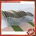 专业定制行人过道走廊门廊门窗楼梯铝合金铝制遮阳雨棚蓬篷 2