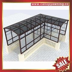 专业定制行人过道走廊门廊门窗楼梯铝合金铝制遮阳雨棚蓬篷