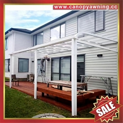 出口远销国际全球高质量铝合金铝制pc耐力板遮挡雨阳棚蓬篷