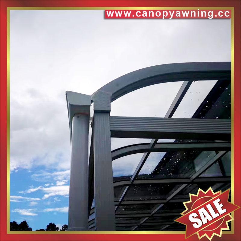 別墅房屋露台陽台天台門窗鋁合金鋁制金屬PC板遮雨陽棚蓬篷 2